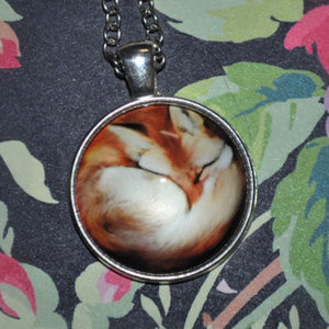 Jewelry - Sleeping Fox Dome Necklace